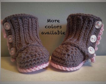 Crochet Baby Boots, Baby Uggs, Baby Girl Boots, Baby Footwear, Baby Winter Boots, Baby Shower Gift, Wrap Boots, Baby Trendy Shoes