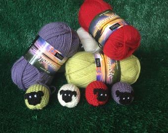 Norwegian Wool Knitted Sheep.
