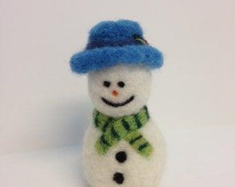 Needle Felted Wool Snowman