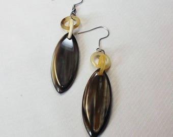 Horn jewelry - Horn earrings - unique horn jewelry  - KAI-2706