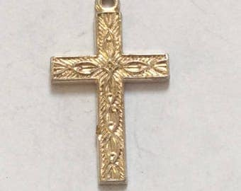 Sterling silver Christian Cross charm vintage # S 855