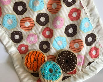 Donuts and Matching Donut Blanket