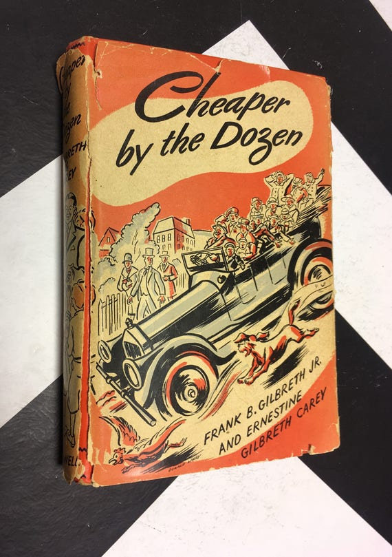 Cheaper by the Dozen by Frank B., Jr. and Ernestine Carey Gilbreth vintage classic book (Hardcover, 1948)