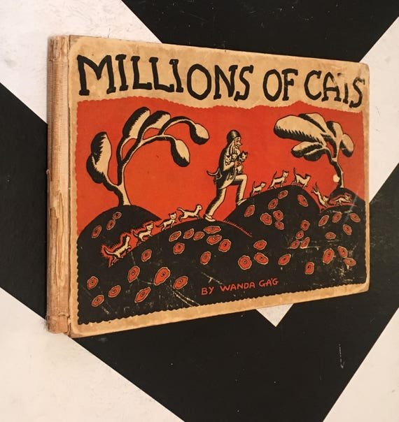 Millions of Cats by Wanda Gág  vintage classic first children's picture book (Hardcover, 1928)