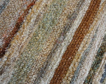 handwoven fuzzy rag rug by ability weavers f523 22 x 35 inches