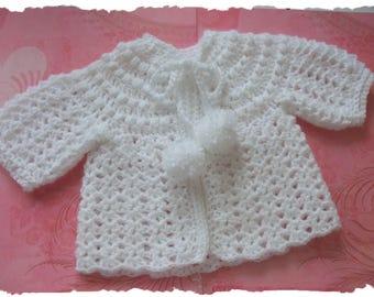 Crochet Baby cardigan-vintage style
