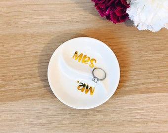 Personalized Ring Dish | Trinket Dish | Initial or Name | Jewelry Dish | Trinket Bowl | wedding ring holder | engagement ring | custom dish