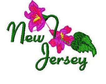 Bogo, Buy 1 Take 1 Embroidery Design, Violet Flower, New Jersey State Flower Embroidery Design, Instant Download, 4x4 Hoop