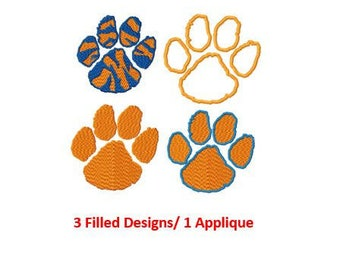 Bogo Free Embroidery, Clemson Tigers Logo Embroidery Design, Instant Download, 2 Inches size, PES  format, Clemson Tigers Applique Logo