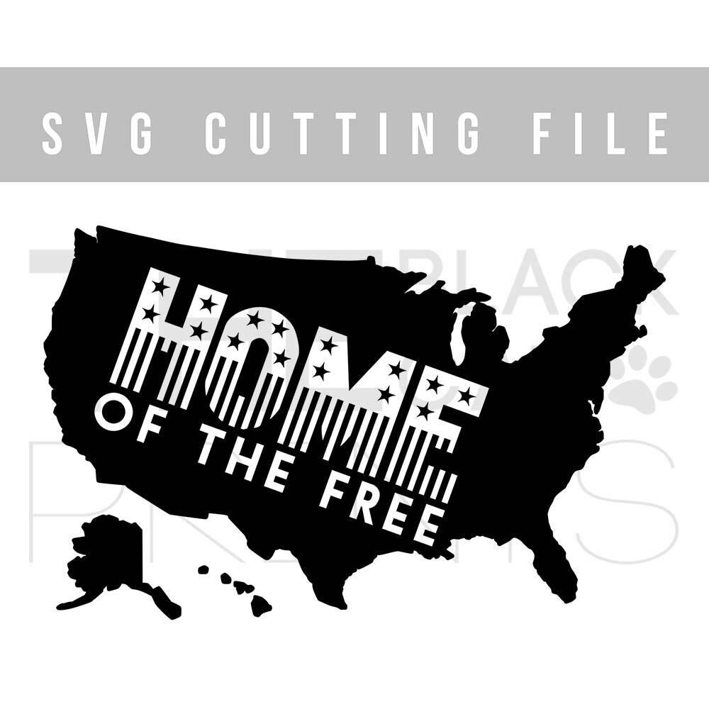 USA Map SVG Cutting File Th Of July Svg File Cricut Design - Usa map black