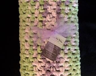 New* Crochet Baby Blanket- Lilac Leaf