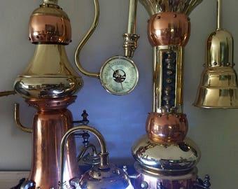 Antique Vintage Desk Table Lamp Light Machine Age Steampunk Collectibles