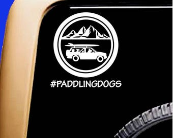 Wagon Weekend!  Paddling Dogs decal