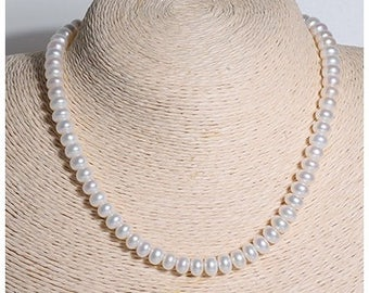 OPENING SALE 20% Off: 8mm Natural Fresh Water Pearls Necklace/Elegant/14K Gold Filled/Perect Gift/Handmade/Unique/The Only Piece