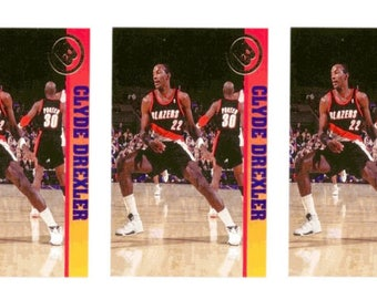 5 - 1993 Ballstreet Clyde Drexler Basketball Card Lot Portland Trail Blazers