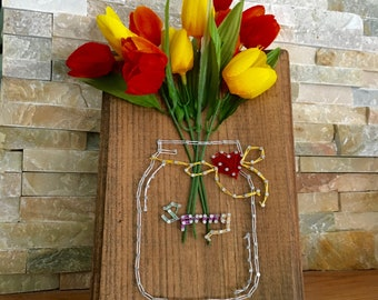 Spring & Flowers String Art