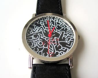 "Keith Haring watch ""Full"" limited edition, Lito Paris - Made in France/Swiss nation. 1988"