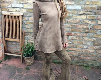 desert dancer hoodie dress in earthy dust - size