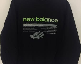 Vintage 90's New Balance Sport Classic Design Skate Sweat Shirt Sweater Varsity Jacket Size L #A779