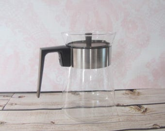 Vintage Pyrex 6 Cup Coffee Carafe Pyrex heat Proof Glass Carafe