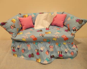 Peppa Pig Couch Tissue Box Cover