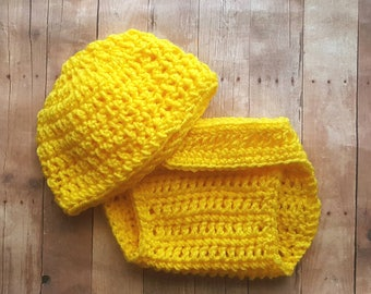 Yellow Newborn Sunshine Baby Outfit, You Are My Sunshine, Cake Smash, Crochet Baby Outfit, Coming Home Outfit, Newborn Photo Prop, Boy Girl