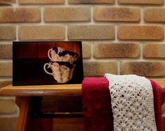 Tea Cup Stack Regular Card