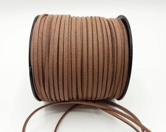 3 m Brown cord - 3 mm * 1.4 mm - A177
