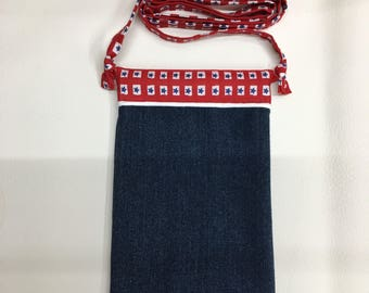 Denim Cell Phone Purse - fits up to  an iPhone 6 Plus