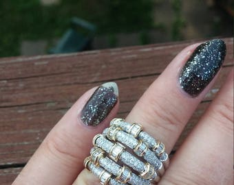 14k Gold 2ct Diamond Wedding Band Ring