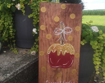 Caramel Apple Wood Sign