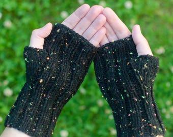 Custom Mitts -  Fingerless Mittens - Handknit Gloves - Hand Knit Mittens - Texting Hand Warmers - Warm Knit Mitts - Fingerless Gloves