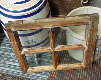 Antique Wooden 4 Pane Window