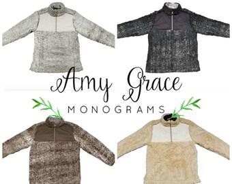 Youth Monogram Sherpa - Monogrammed Sherpa Pullover / Kids Youth Pullover / Girls Monogram Pullover / Monogrammed Sherpa / Sherpa