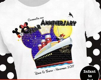 Disney Matching Cruise Shirts, Disney Cruise Anniversary Shirts, Disney Family Cruise Shirts, Disney Anniversary Cruise Tank