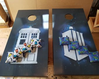 Dr. Who Complete Cornhole Set