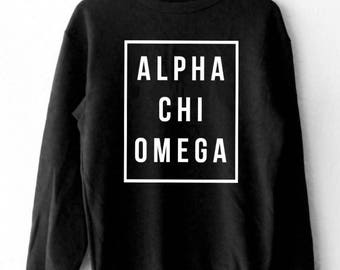 Alpha Chi Omega Black sweatshirt