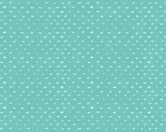 One Yard Cut - Turquoise Hearts - Intermix for Dear Stella Designs -  Quilters Cotton - Fabric by the Yard