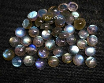 10 pieces 5mm Labradorite Cabochon Round AAA+ Quality Loose Gemstone - Calibrated Size Natural Labradorite Round Cabochon Wholesale Gemstone