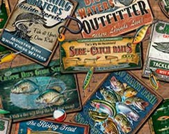Fish of many kinds, Labels,Quilting Treasures
