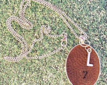 SALE Football Jewelry, Football Necklace, Football Mom Gift, Personalized Football Necklace, Initial Football Jewelry, Initial Football Neck