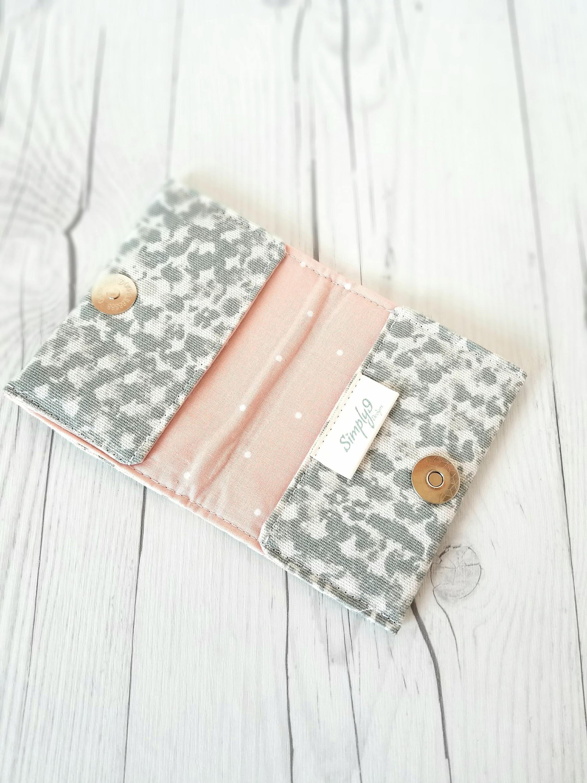 Gray Wallet Pink Wallet Polka Dot Wallet Small Women Wallet