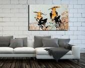 Canvas Hoopoe Print wall art, Large Wall Art, Canvas Print, Bird Print, Bird Art, Colorful art, Wall Décor, Wildlife Wall Art #520HO