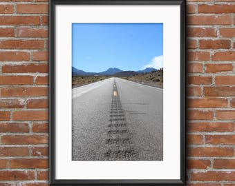 Lonely road print. Instant Download