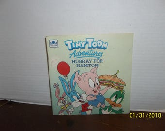 vintage 1990 tinytoon adventures hurray for hampton book