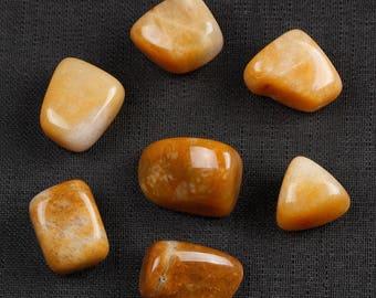 7 Piece Yellow Jasper Tumbled Stones, Yellow Jasper Crystal, Jasper, Tumbled Crystals, Yellow Jasper Stones, Jasper Tumbled Stones #YJS7