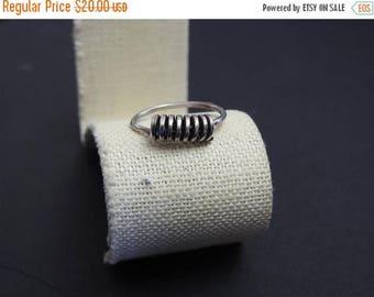 ON SALE stunning vintage handmade modernist adjustable sterling silver ring size 8 1/2-9 1/2