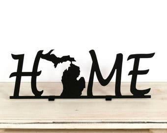 Michigan Home Sign / Michigan Decor / Michigan Sign / Michigan / Michigan Home / Michigan Home Decor / Michigan Gift Ideas