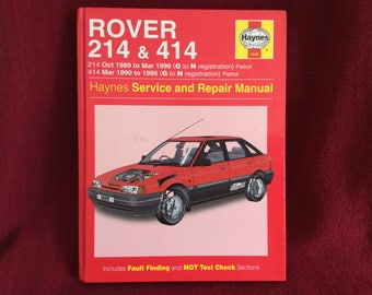 Haynes Owners Workshop Manual Rover 214 & 414 (petrol) #1689
