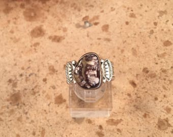 Vintage Navajo Wild Horse Magnesite  & Sterling Silver Ring Size 7